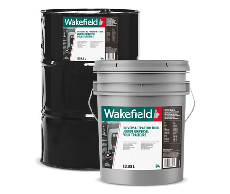Photo of Wakefield Universal Tractor Fluid pail and drum formats.